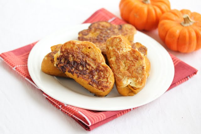 photo of Pumpkin Spice French Toast on a plate