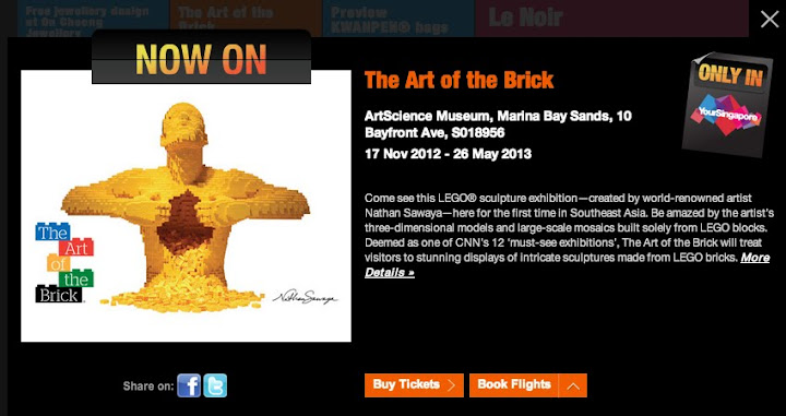 The Art of Brick Happening in Singapore