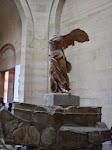 The Winged Victory of Samothraces - it's such an impressive sight; also the basis of Nike
