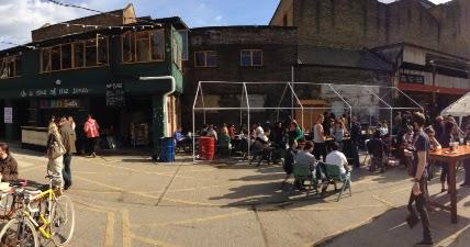 The Ribmans Backyard Keg Party Merchants Yard East London