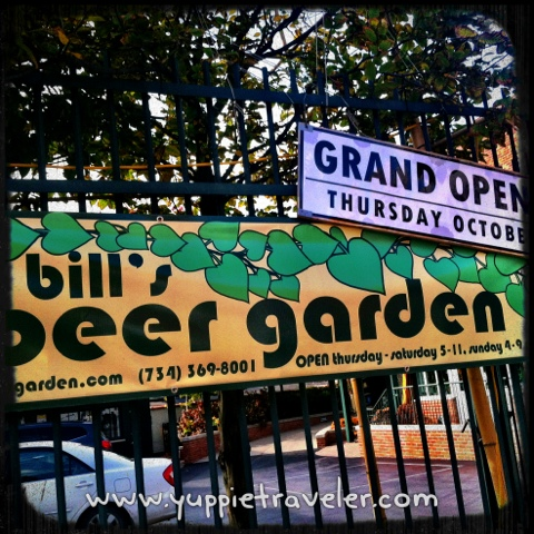 Bill 39 s beer garden ann arbor michigan yuppie traveler for Ann arbor beer garden