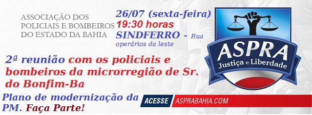 2ª REUNIÃO COM OS POLICIAIS DA MICRORREGIÃO DE SENHOR DO BONFIM