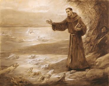 Sant Antoni de Pàdua predicant als peixos - J. Benlliure