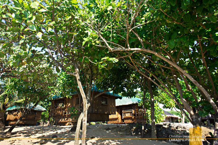 Shaded Huts at the Rock View Beach Resort in Patar, Bolinao