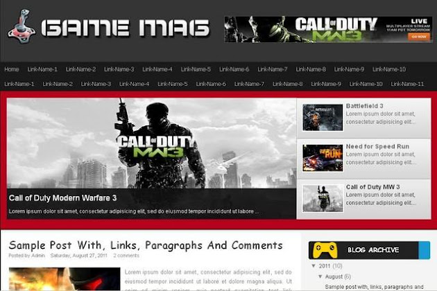 Game Mag Blogger Template