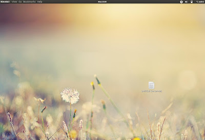 Nautilus menu under gnome shell top bar