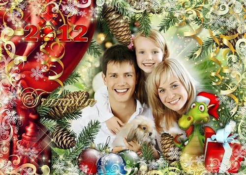 Новогодняя рамка для фото – Хорошо нам всем живется в новогодней сказке