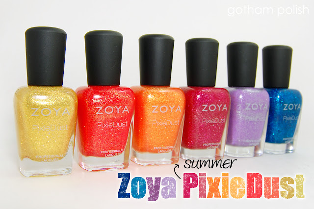 Zoya Summer PixieDust Textured Nail Polishes - Swatches & Reviews