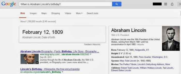 Abraham Lincoln Birthday Google Search