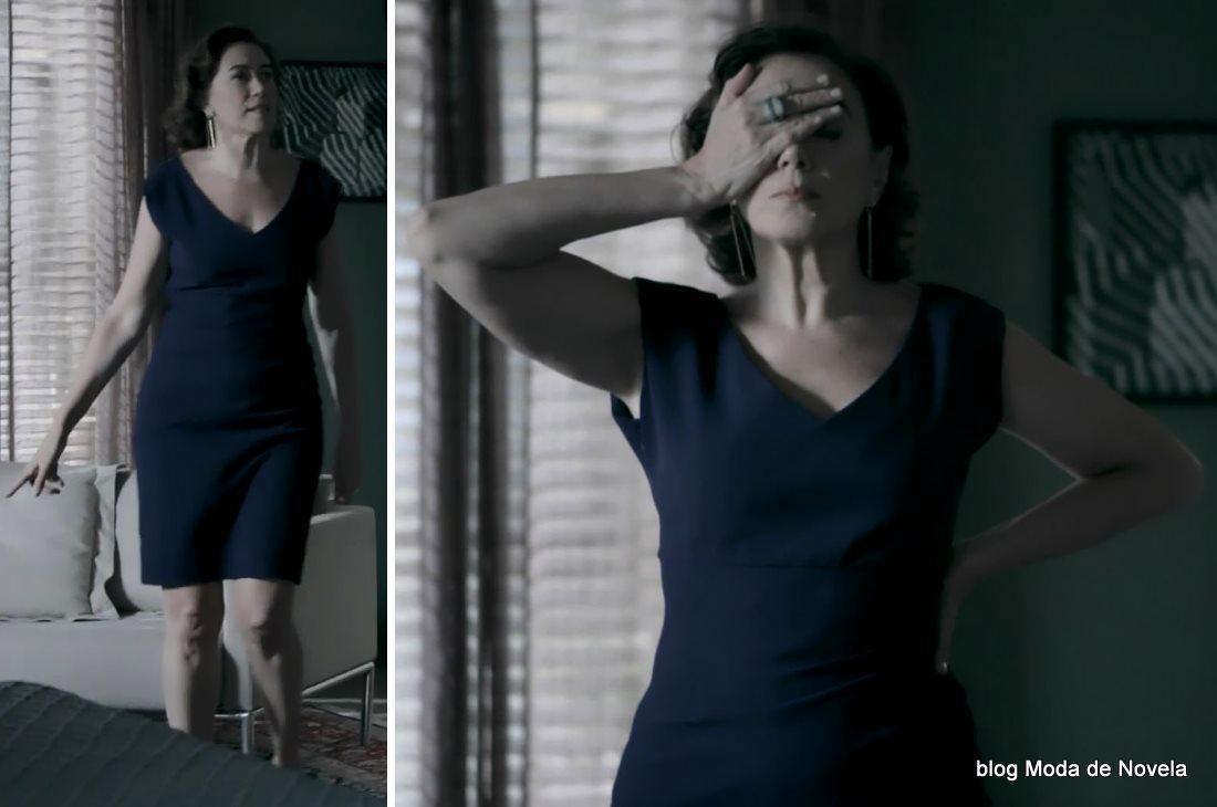 moda da novela Império, look da Maria Marta dia 5 de janeiro de 2015