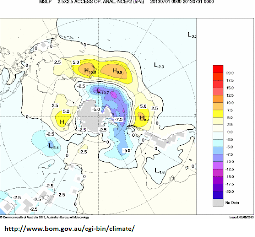 july2013 mslp anomaly