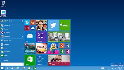 Windows 10 - Menú Inicio