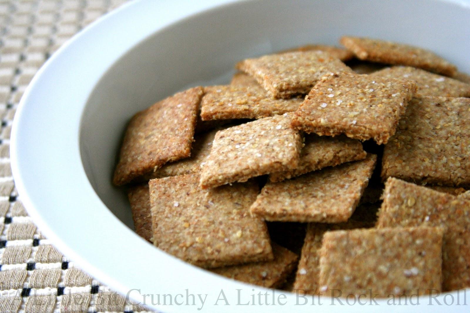 A Little Bit Crunchy A Little Bit Rock and Roll: Homemade Whole Grain Crackers
