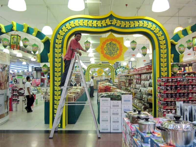 Hua Ho - Manggis supermarket area display