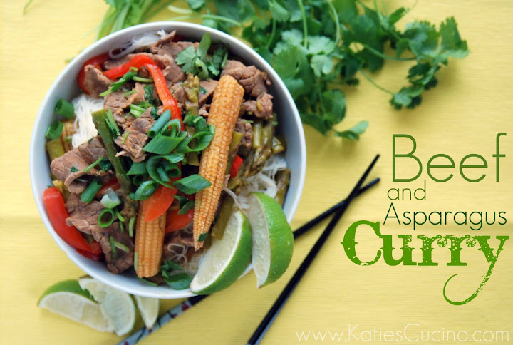 Beef and Asparagus Curry