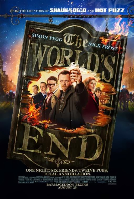 Poster Of English Movie The World's End (2013) Free Download Full New Hollywood Movie Watch Online At Alldownloads4u.Com