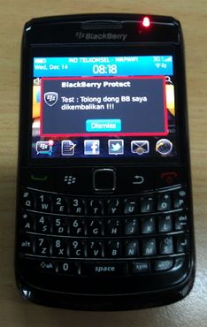 Lacak dan Lindungi BB dengan Blackberry Protect