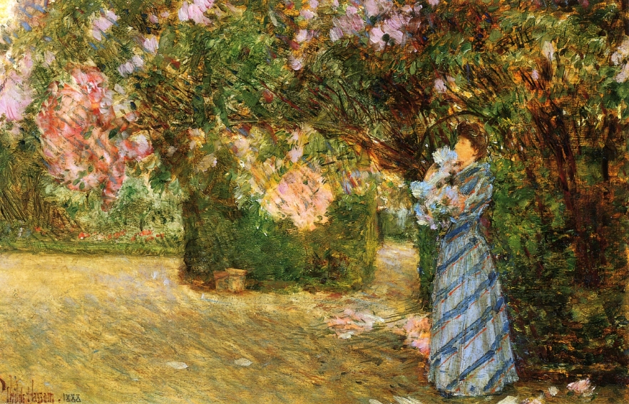 Childe Hassam - Mrs. Hassam at Villiers-le-Bel