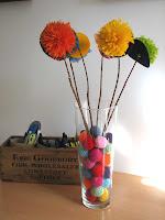 ramo de pompones/ pom pon bouquet