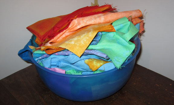 hand-dyed fabrics
