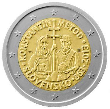 Moneda conmemorativa de 1150 aniversario de los Santos Cirilio y Metodio