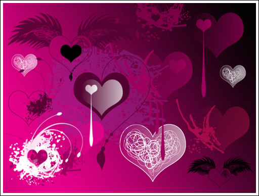 Valentines Brushes 1 by melemel