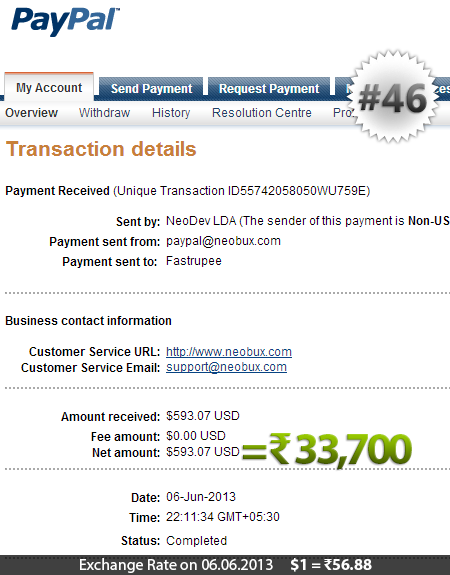 Neobux Payment Proof 46
