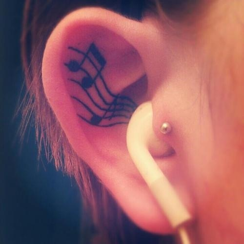 small ear tattoos