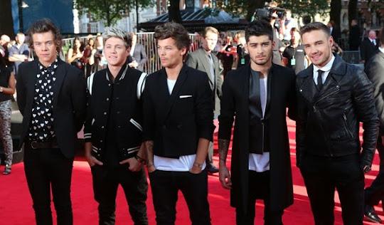 One Direction en en la alfombra roja