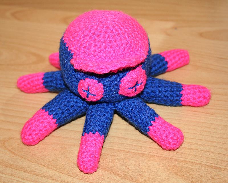 Amigurumi Octopus Anleitung : das Hakel, das Stick und das Nah: das Hakel