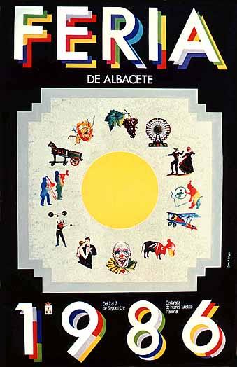 Cartel Feria Albacete 1986