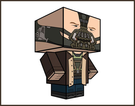 The Dark Knight Rises Bane Paper Toy