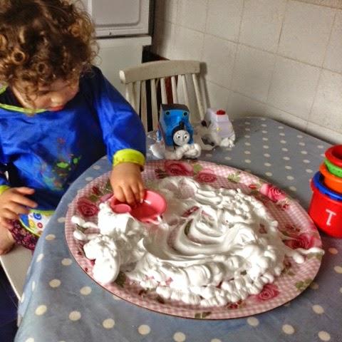 Mummy S Little Blog Messy Play For Beginners Part 1 Shaving Foam