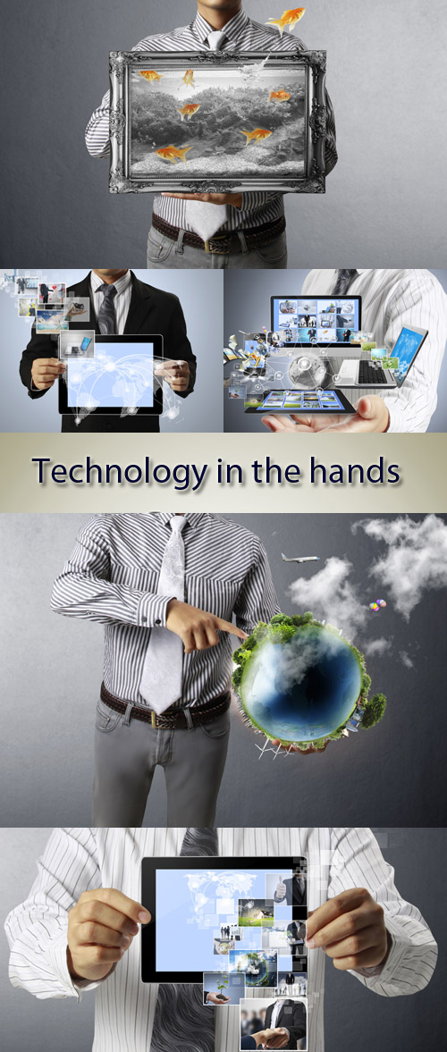 Stock Photo: Technology in the hands