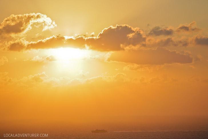 Best Sunset in Santorini Greece.