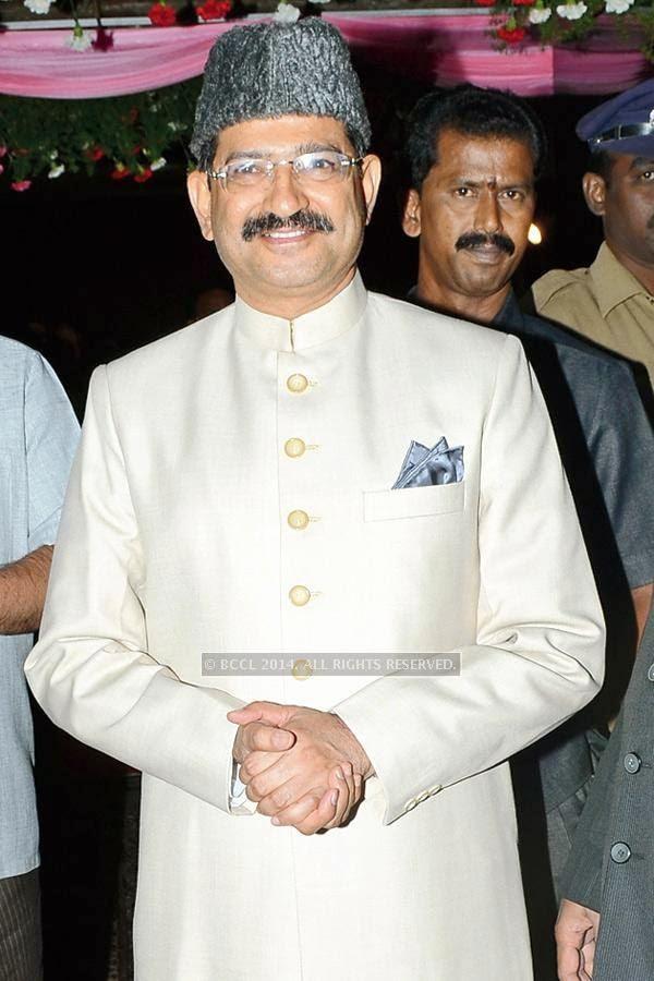 Anurag Sharma during the iftaar party, held in Hyderabad.