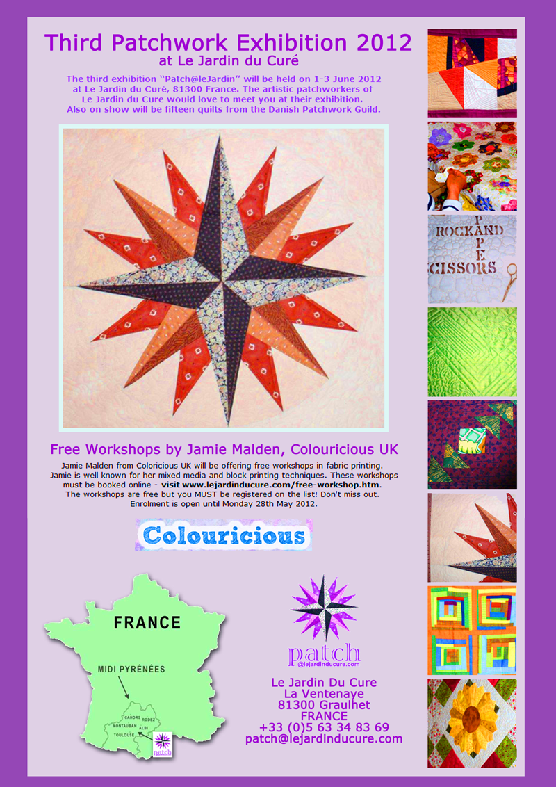 Patchwork show in France - textile art