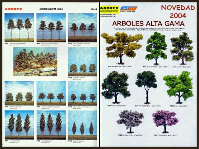 árboles del catálogo Aneste 2