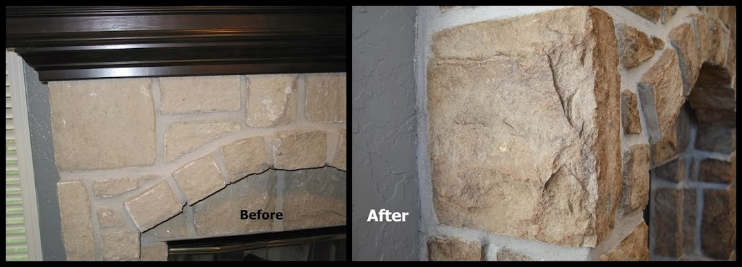 Faux finish on stone