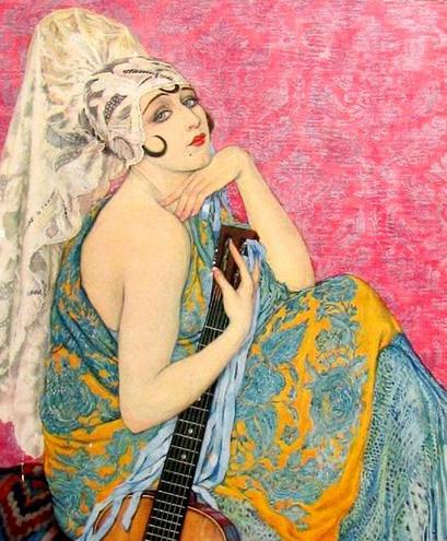 vintage illustration femme