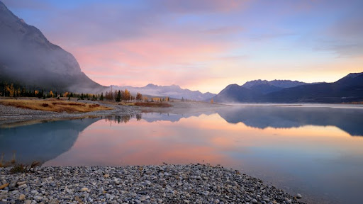 Abraham Lake at Sunrise, Alberta.jpg