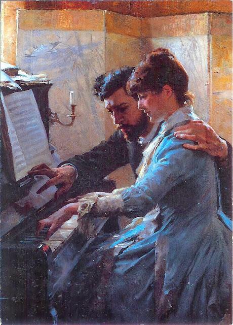 Albert Edelfelt - At the Piano