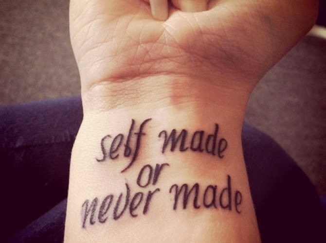 inspirational quote tattoos