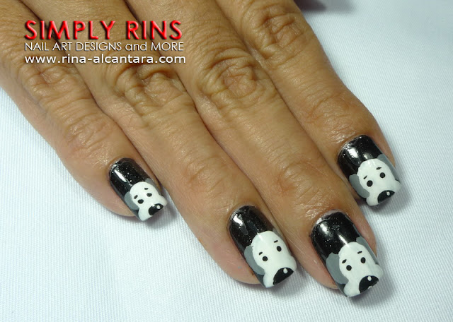 Dog or Puppy Nail Art Design
