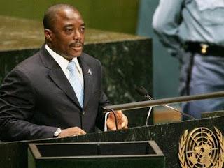 Le président congolais Joseph Kabila à la tribune des Nations unies.