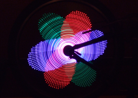 RGB Bike POV display