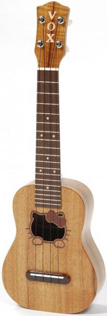 Vox uk55hk Koa Soprano by headway guitars at Lardy's Ukulele Database