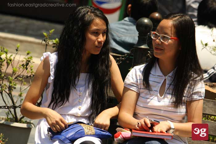 Young girls sitting on a bench in Gangtok