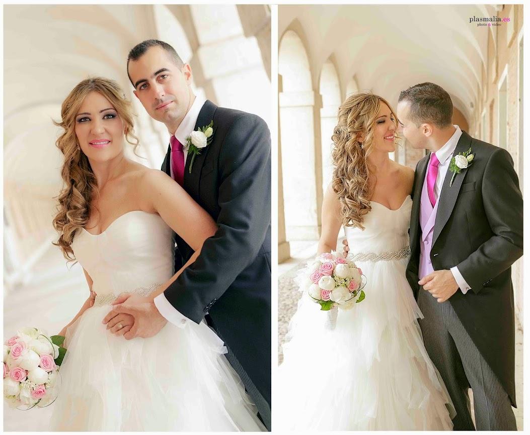 Novios en su reportaje de boda en Madrid.