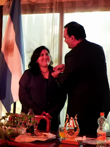 Gustavo Flamerich, Presidente 2012-2013, pasando la Presidencia del Club a Cristina Cortés Otero